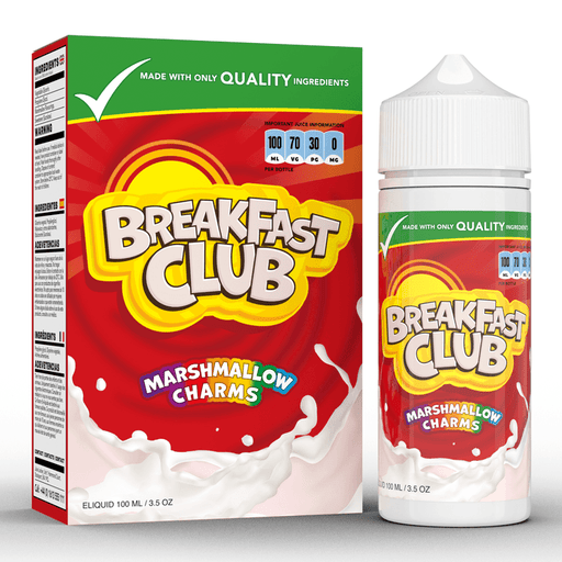 Marshmallow Charms by Breakfast Club 100ml free nic shots - I Love Vapour E-Liquid breakfast club
