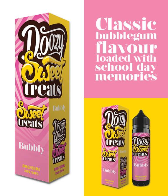 SWEET TREATS BUBBLY – 50ML SHORTFILL INC FREE NIC SHOT - I Love Vapour E-Juice DOOZY VAPE
