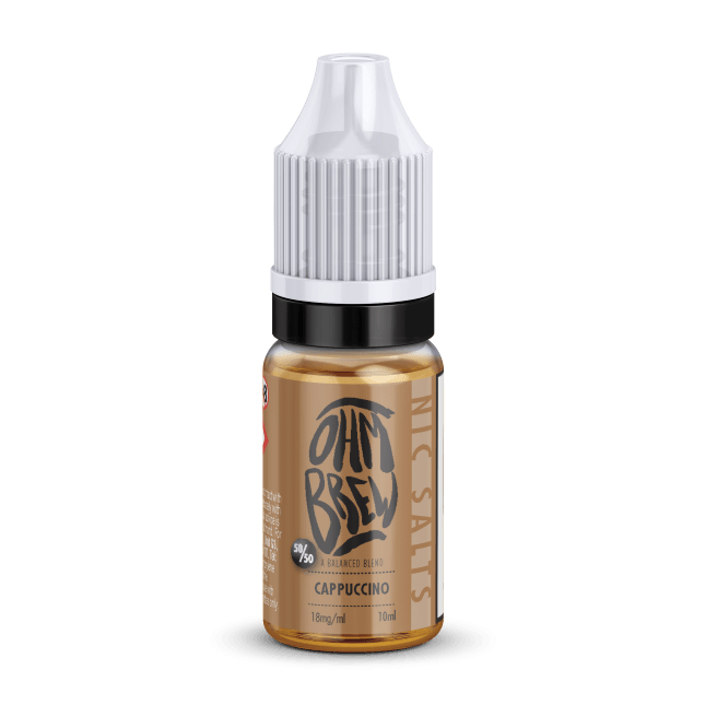 CAPPUCCINO NIC SALT BY OHM BREW - I Love Vapour nic salts I Love Vapour