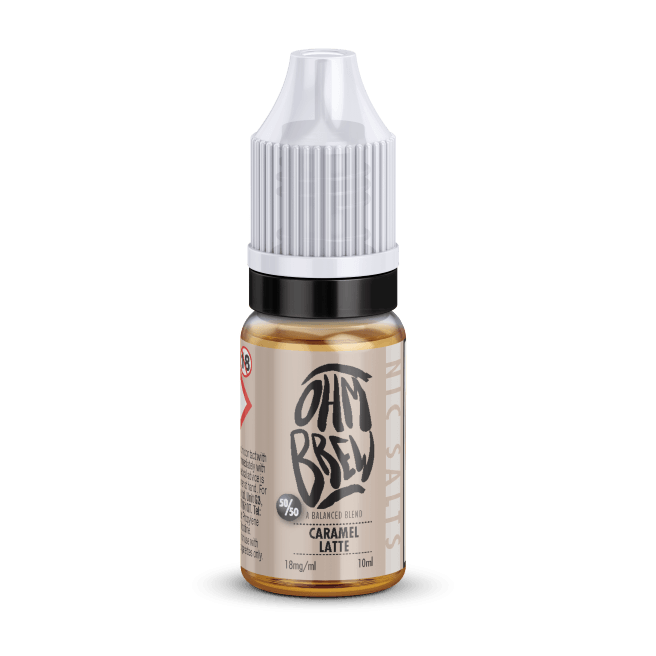 CARAMEL LATTE NIC SALT BY OHM BREW - I Love Vapour nic salts I Love Vapour