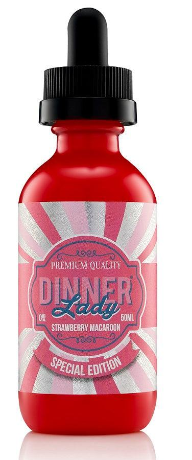 Dinner Lady Strawberry Macaroons E-Liquid 50ml Short Fill - I Love Vapour E-Juice Dinner lady