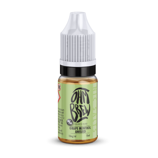 GRAPE MENTHOL ANISEED NIC SALT BY OHM BREW - I Love Vapour nic salts I Love Vapour