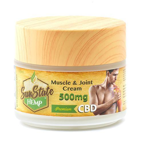 Muscle & Joint Cream 500mg - I Love Vapour Skincare Sun State Hemp
