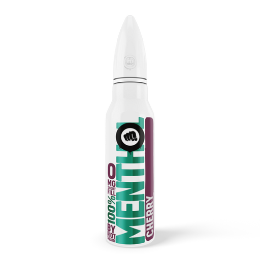 100% MENTHOL - CHERRY E-Liquid 50ml Short Fill - I Love Vapour E-Juice riot squad