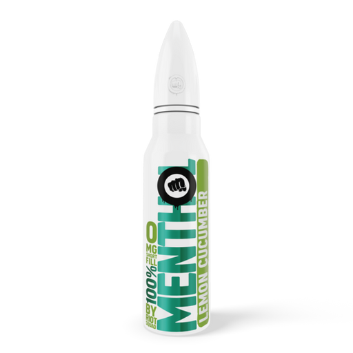 100% MENTHOL - LEMON CUCUMBER E-Liquid 50ml Short Fill - I Love Vapour E-Juice riot squad