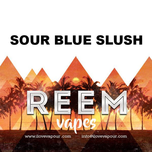 Sour Blue Slush Premium E juice By Reem Vapes - I Love Vapour E-Juice reem