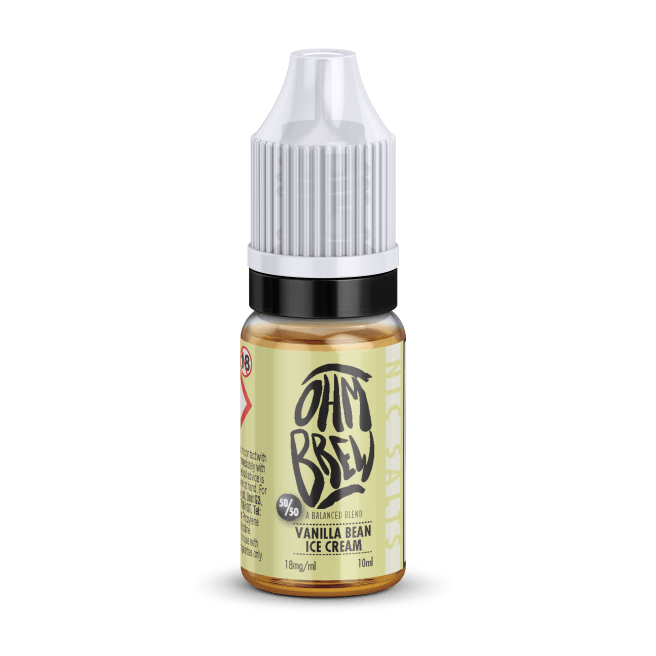 VANILLA BEAN ICE CREAM NIC SALT BY OHM BREW - I Love Vapour nic salts I Love Vapour