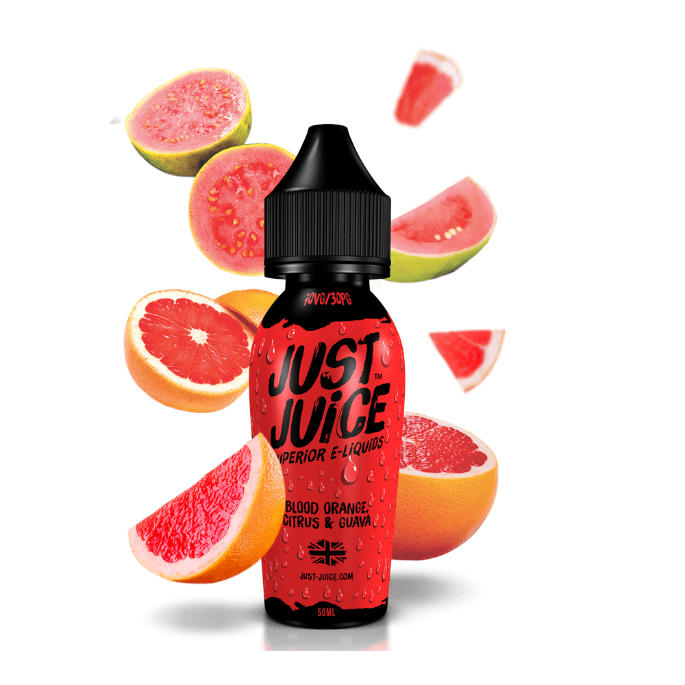Just Juice e-liquid Blood orange citrus & guava 50ml shortfill - I Love Vapour E-Juice Just Juice