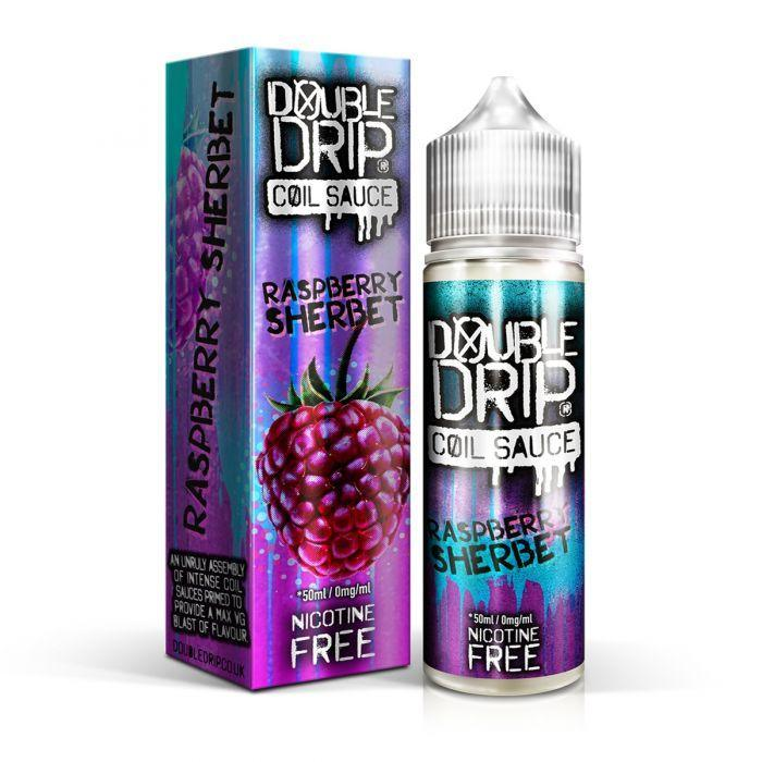 Double Drip Raspberry Sherbet E-Liquid 50ml Short Fill - I Love Vapour E-Juice Double Drip