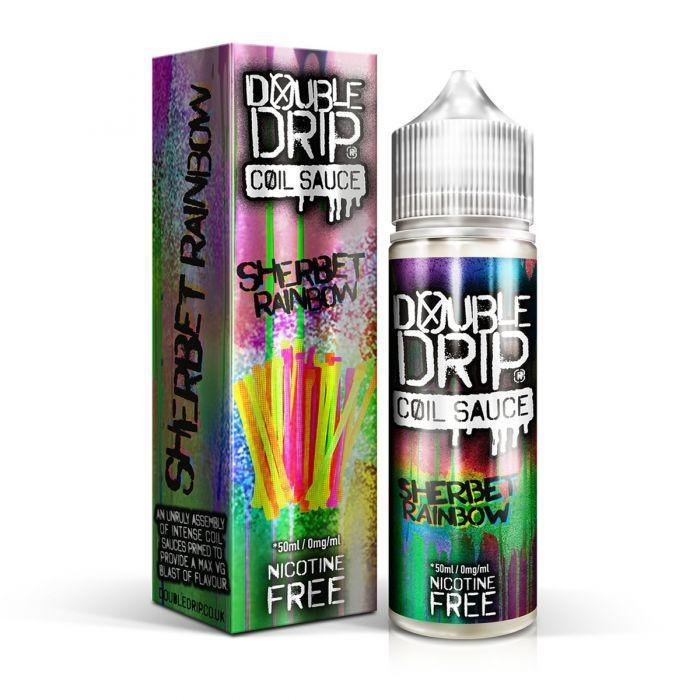 Double Drip Sherbet Rainbow E-Liquid 50ml Short Fill - I Love Vapour E-Juice Double Drip