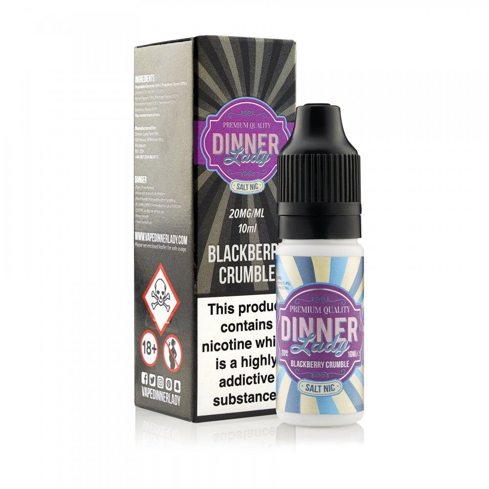 DINNER LADY NIC SALTS 10ML BLACKBERRY CRUMBLE - I Love Vapour