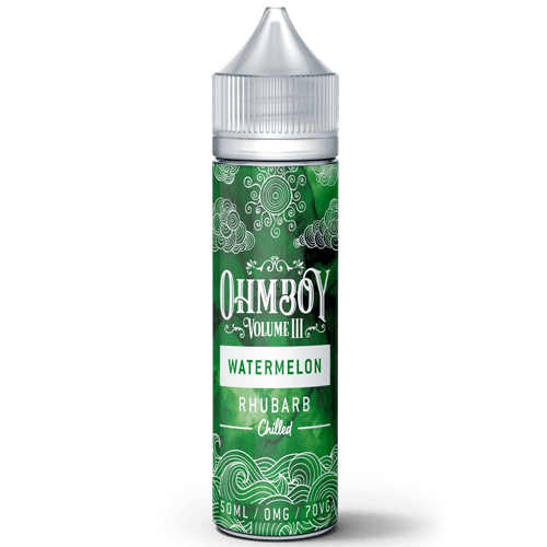 Ohmboy Watermelon & Rhubarb Chilled 50ml shortfill - I Love Vapour E-Juice ohmboy