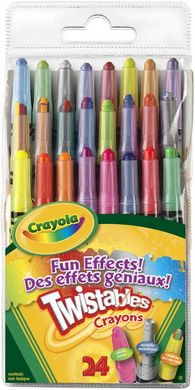 Crayons cire Twistable Effets Géniaux 24
