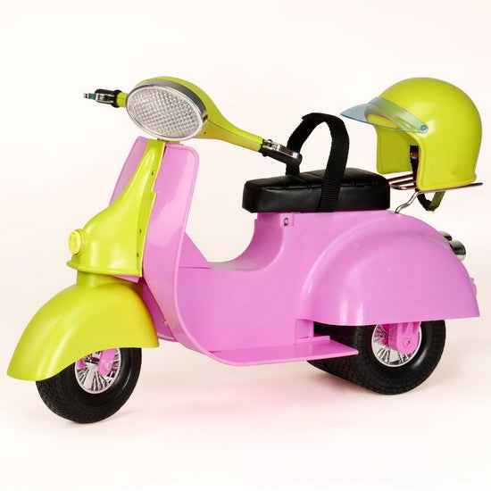 Scooter rose et jaune