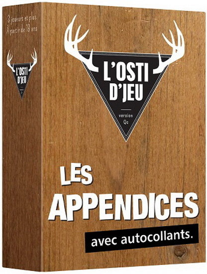 L'Osti d'jeu extension Les Appendices