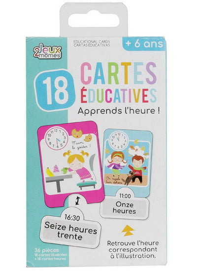 Cartes éducatives J'apprends l'heure