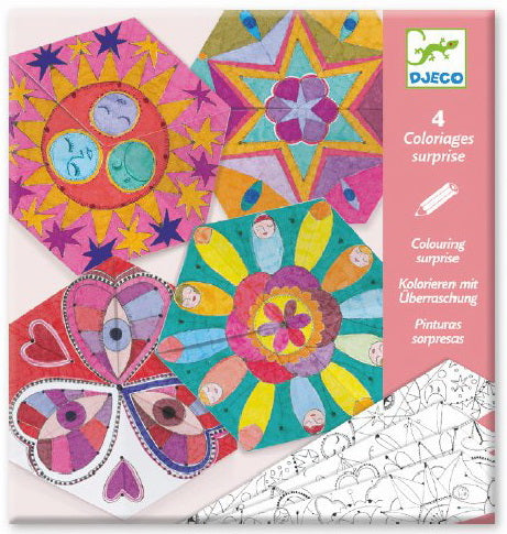 Coloriages surprises Mandalas rosaces
