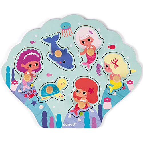 Puzzle en bois Happy Mermaids 6 mcx