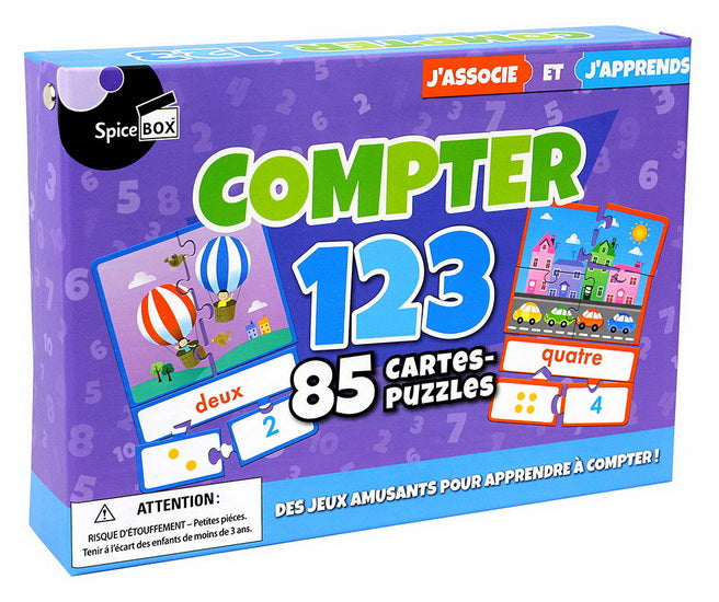 Compter 123 : 85 cartes-puzzles
