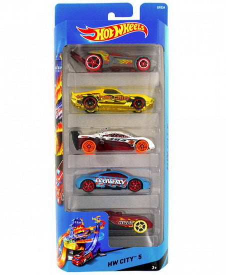 Hot Wheels Ensemble 5 voitures AS