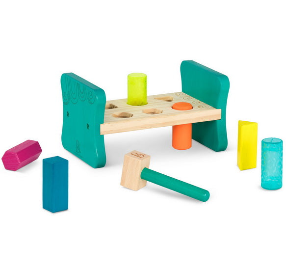 Jeu de tap en bois Colorful Pound & Play