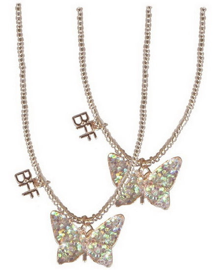 Collier BFF papillon doré 2 pcs