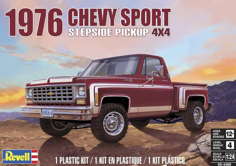 Chevy Sport Stepside Pickup 4X4 1976 1/25