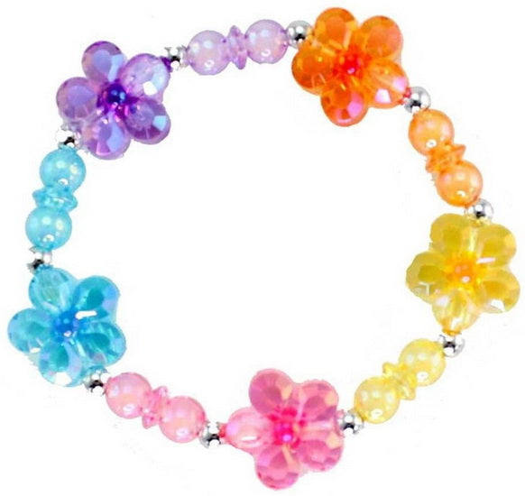 Bracelet Flower Rainbow Power