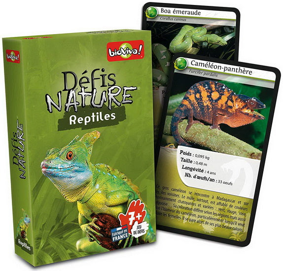 Cartes Défis nature Reptiles
