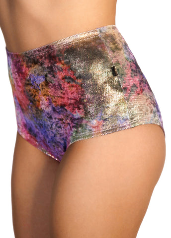Asteria Velvet High Waisted Hot Pants