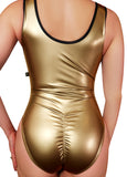 Metal Liquid Zip-up Bodysuit