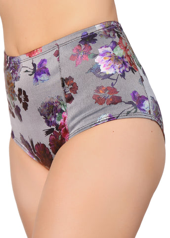CleoXElena Floral High Waisted Hot Pants
