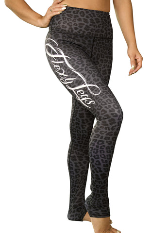 Black Leopard Flexy Legs Compression Leggings