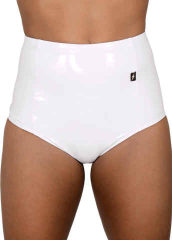 White Heroine Liquid High Waisted Hot Pants