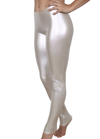 Mother of Pearl Vinyl Leggings