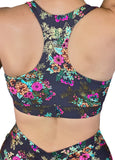 Gunmetal Garden Twist Sports Bra