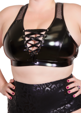 Heroine Liquid V-Neck Crop Top