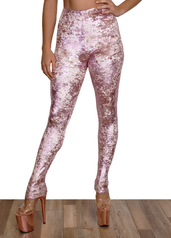 Viva La Velvet Velvet High Waisted Leggings