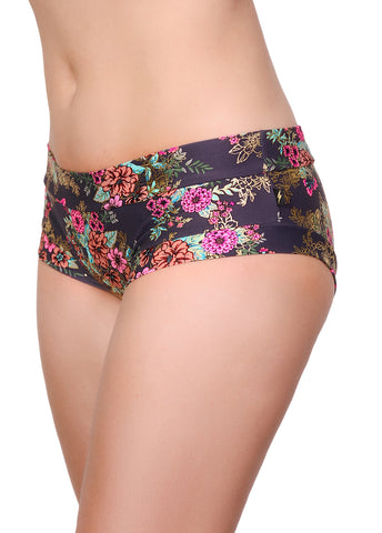 Gunmetal Garden Hot Pants