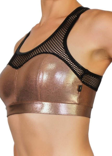 Rose Gold Heart Breaker Sports Bra