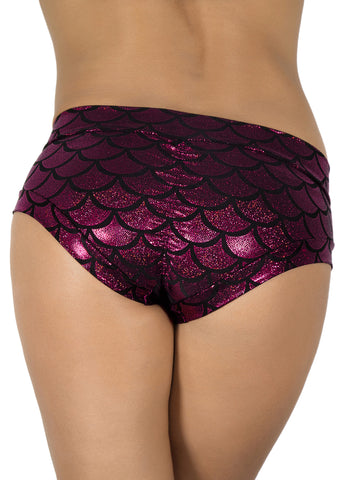 Sonic Siren Metallic Hot Pants (Fuchsia)