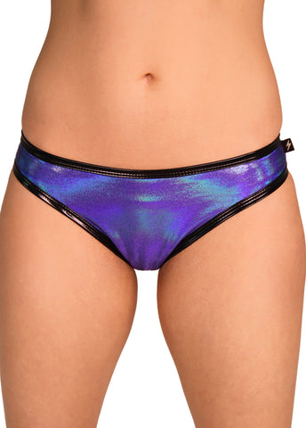 Iridescent Blue/Purple Skimpy Hot Pants