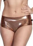 Rose Gold Metallic Hot Pants