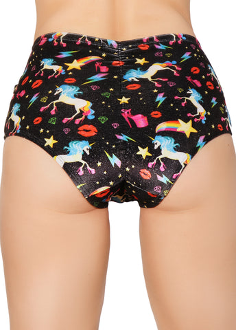 Unicopia Sparkle Velvet High Waisted Hot Pants