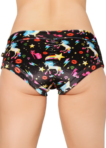 Unicopia Sparkle Velvet Hot Pants