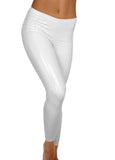 White Heroine Liquid Vinyl Leggings
