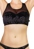 Bish Royale Velvet Heart Breaker Sports Bra