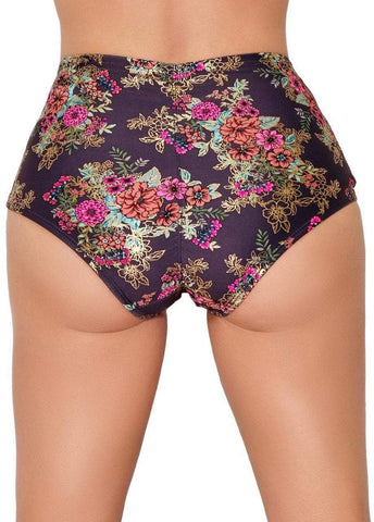 Gunmetal Garden High Waisted Hot Pants