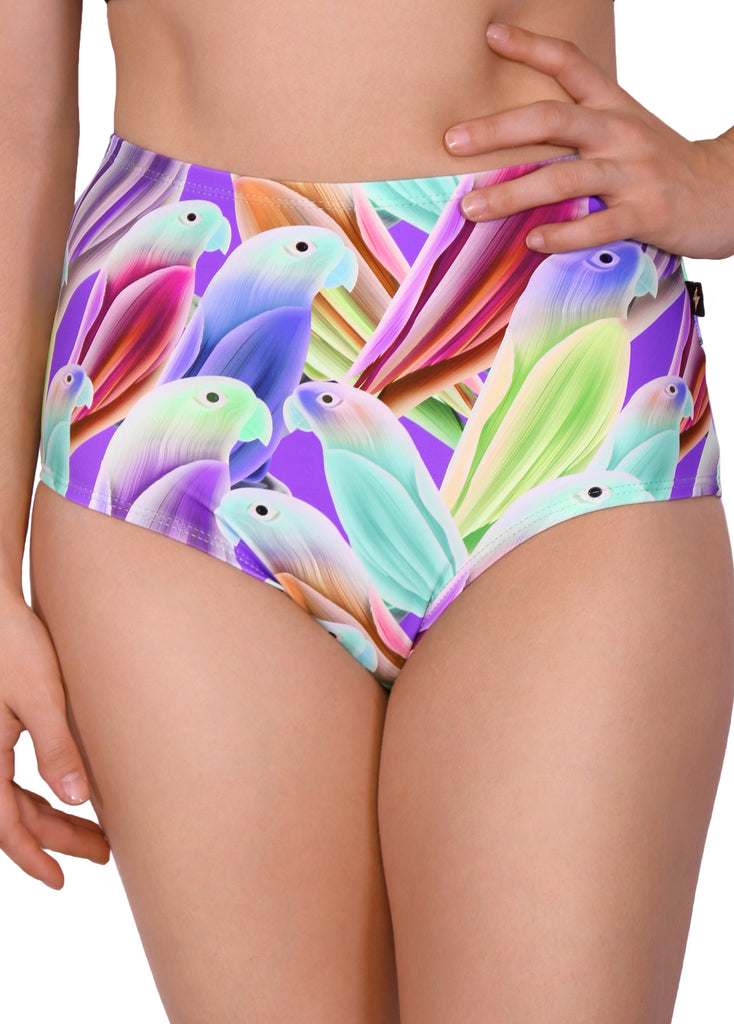 Tropical Birds High Waisted Hot Pants