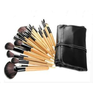 32 pinceaux a maquillage en etui souple refermable a cordons